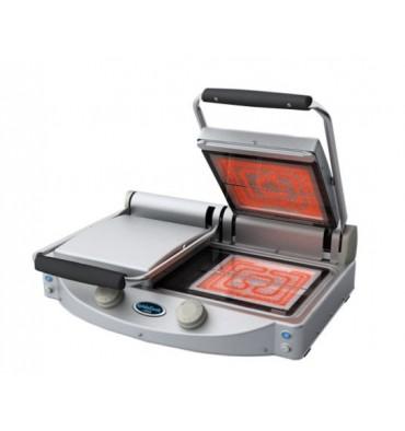 grill paninis doubles en vitroc ramiques avec plaques transparentes. Black Bedroom Furniture Sets. Home Design Ideas