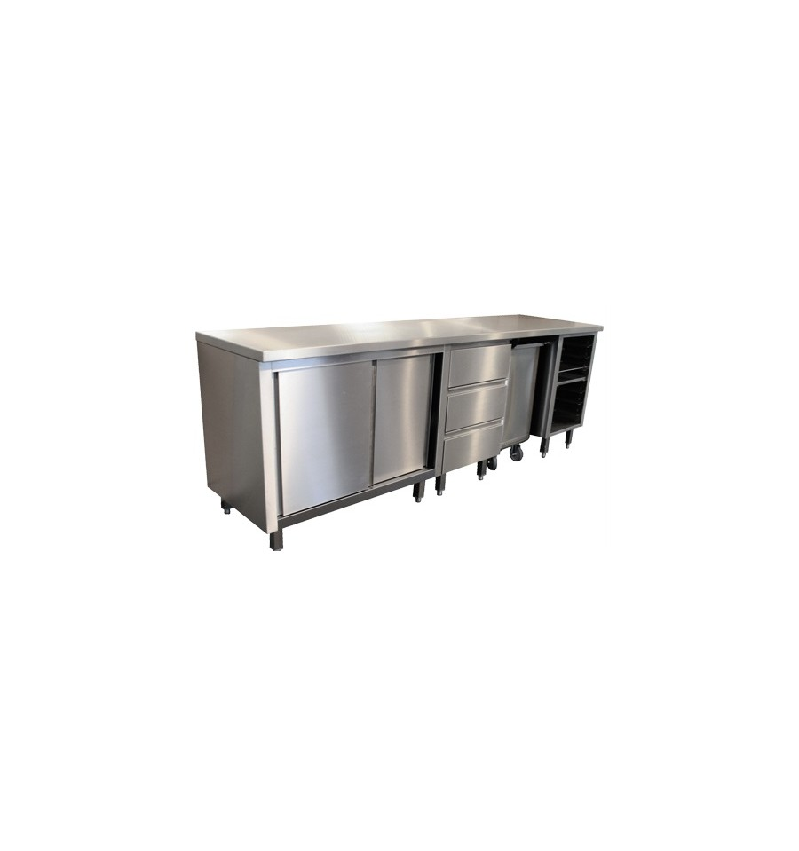 Meuble inox sp cial boulangerie p tisserie for Meuble mural inox