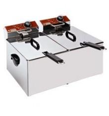 Friteuse électrique 2 x 7 litres sans vidange