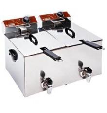 Friteuse électrique 2x8 litres avec vidange
