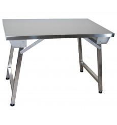 Table inox pliante