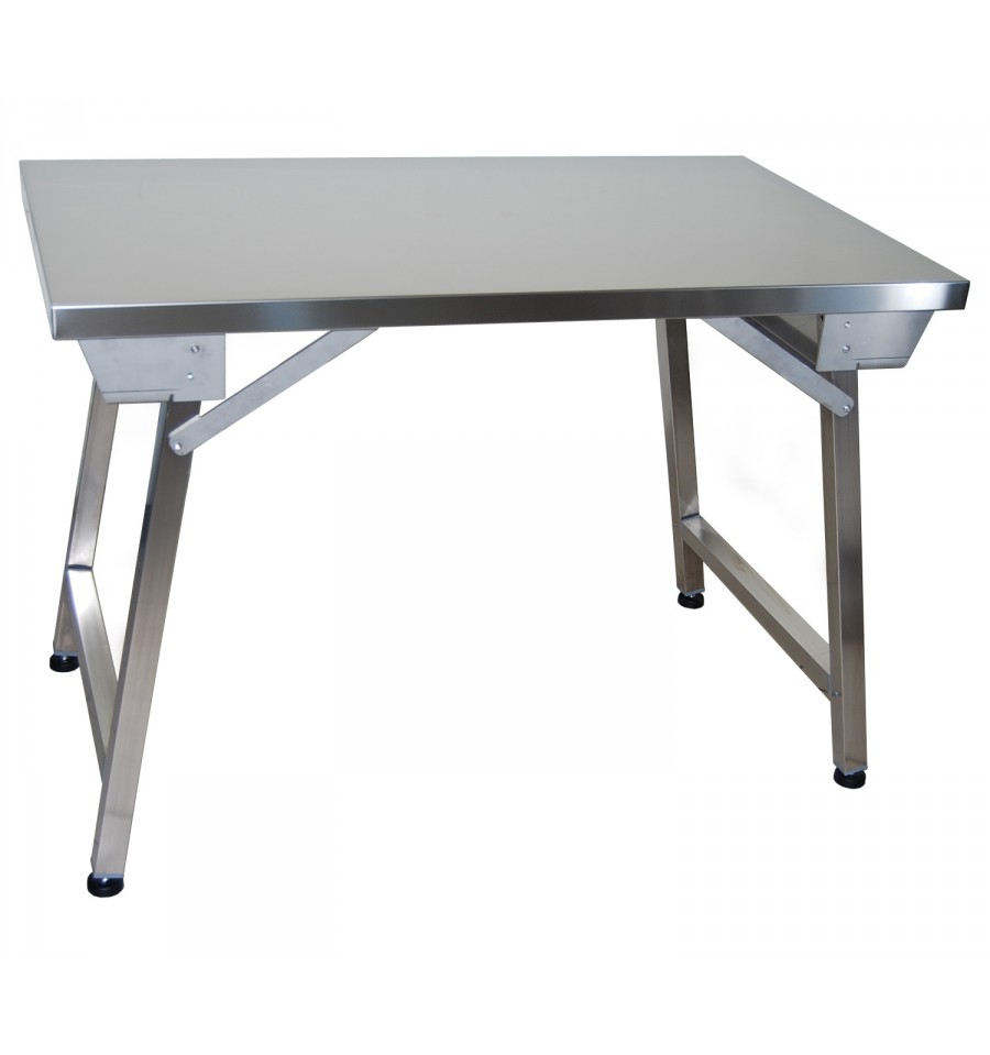 Table en inox 304 pliante - Table en verre pliante ...