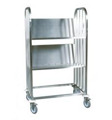 Chariot a vaisselle et plateaux