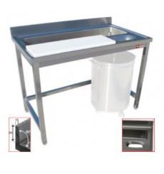 Table de préparation et lavage légumes