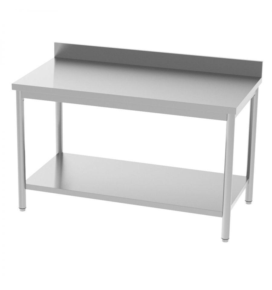 table inox adoss e avec tag re profondeur 700 mm longueur de 1000 1800 mm. Black Bedroom Furniture Sets. Home Design Ideas