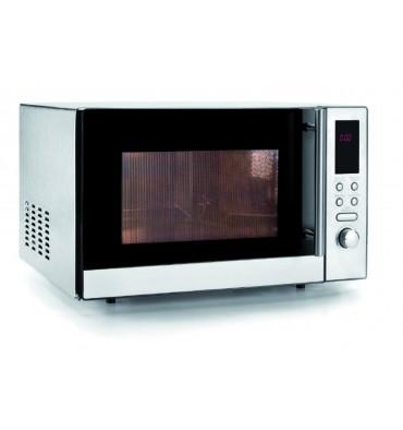 four micro ondes professionnel avec grill tout inox 25 litres 800w. Black Bedroom Furniture Sets. Home Design Ideas