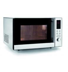Four micro-ondes professionnel avec grill, tout inox, 25 litres, 800W