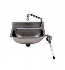 Lave mains à commande fémorale en inox