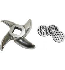 Couteau ou grilles pour hachoir n°8 simple coupe